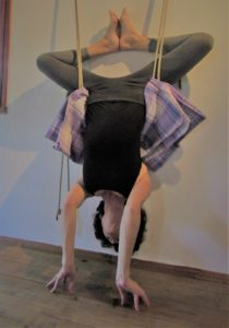 sirsasana in ropes